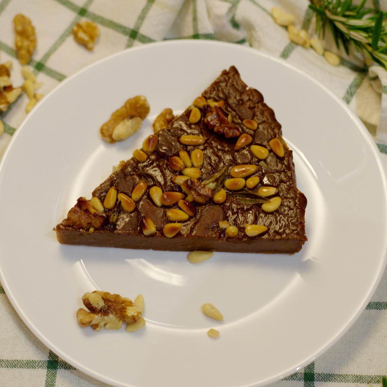 Castagnaccio slice