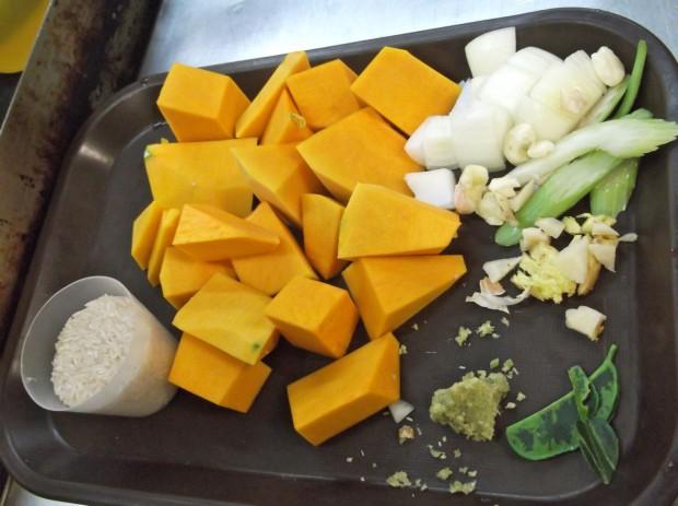 Thai Pumpkin Mis en Place