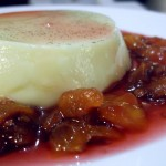 White Chocolate Pannacotta with Tamarillo Compote